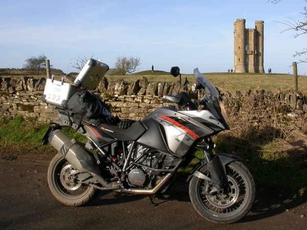 Steve's KTM 1190 Adventure at the Broadway Tower