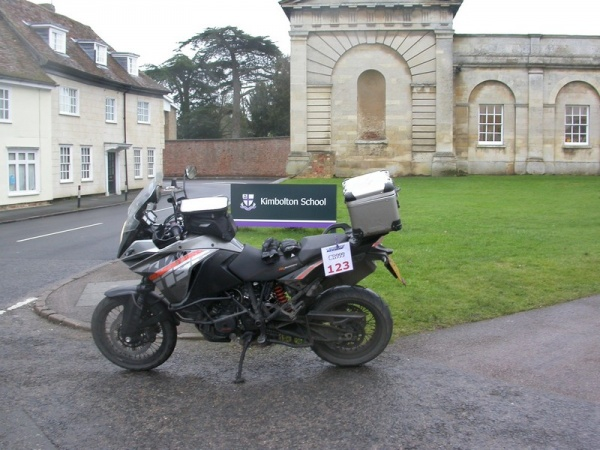 Steve's KTM 1190 Adventure at Kimbolton School