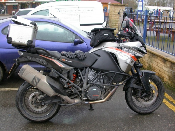 Steve's KTM 1190 Adventure at the All Seasons Cafe