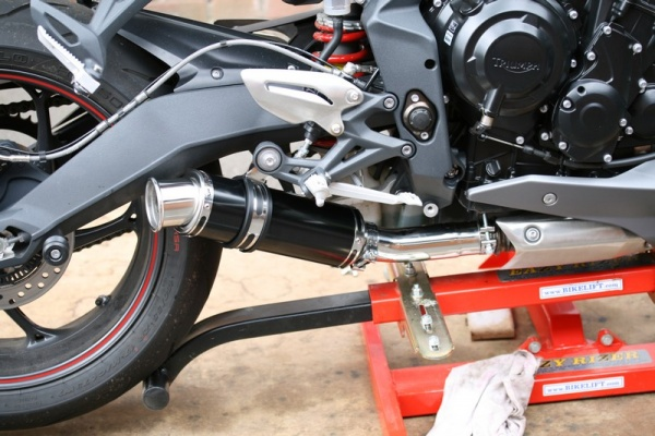 Black Stubby Moto GP Exhaust