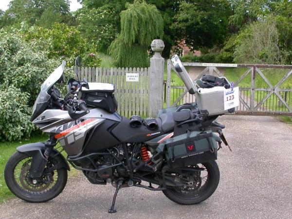 Steve's KTM 1190 Adventure at Aubourn Hall