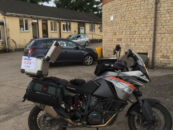 Steve's KTM 1190 Adventure at Caenby Corner Cafe