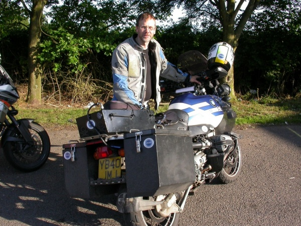 Grim and his BMW GS