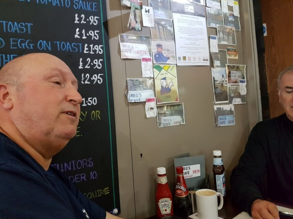 Inside Reg's Cafe, Banbury