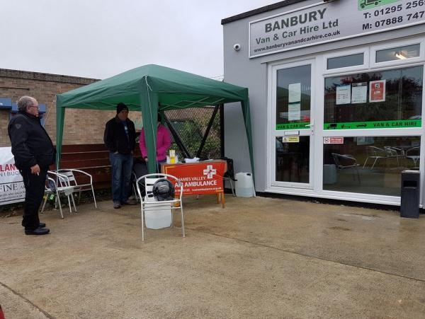 Outside Reg's Cafe, Banbury
