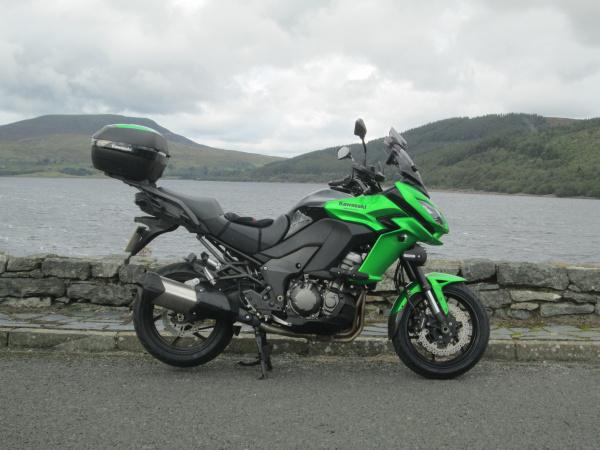 Kawasaki Versys 1000 at Afon Tryweryn