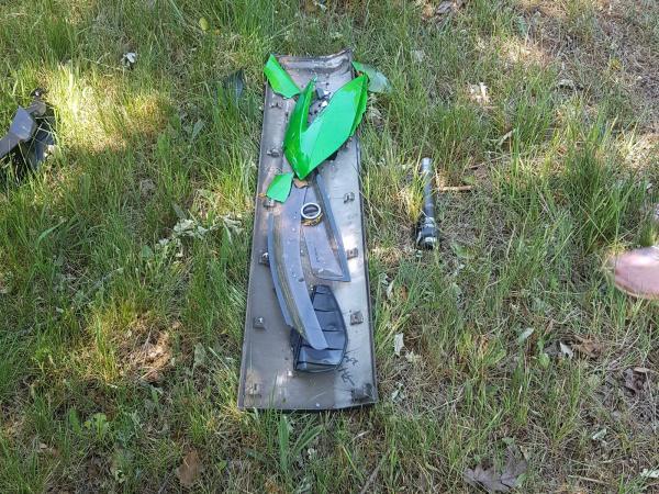 Crashed Kawasaki Versys 1000