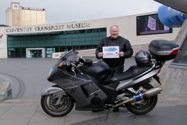 Bob outside Coventry Transport Museum