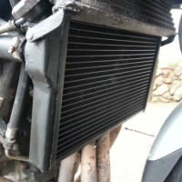 Replacement Radiator on Honda CBR1100 Super Blackbird