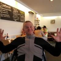 Steve inside Jo's Cafe