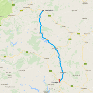 B4518 – Llanbrynmair to Rhayader