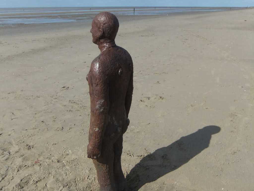 Another Place Sculpture in Crosby.