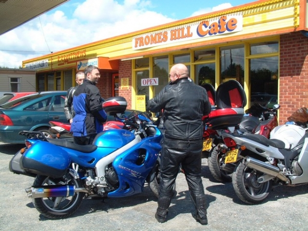 Outside Fromes Hill Cafe