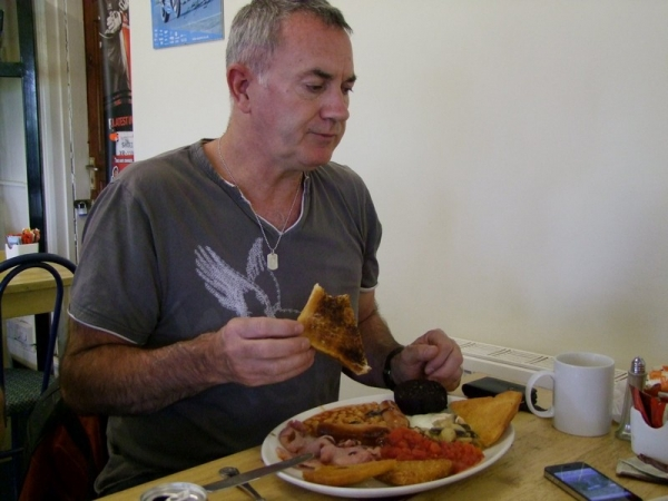 Full English breakfast at The Food Stop Cafe