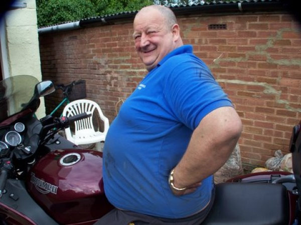 Hank and his Triumph Trophy 1200
