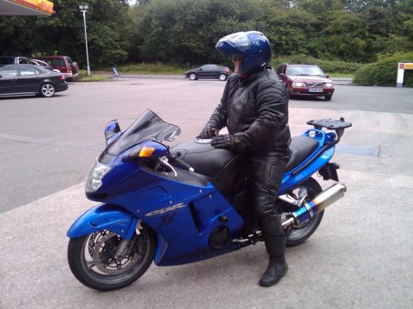 Bob on his Honda Blackbird
