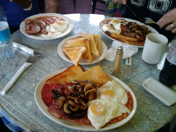 A Wellesbourne airfield cafe full English breakfast