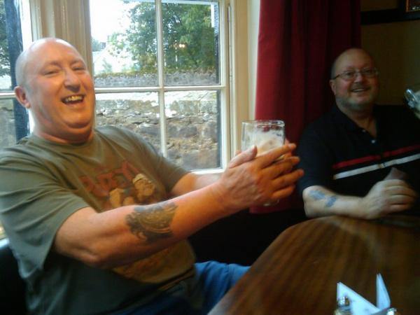 Bonzo and Bob at the Loch Leven hotel