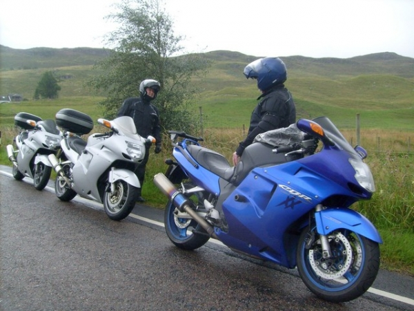 Honda Blackbird's somewhere in Scotland