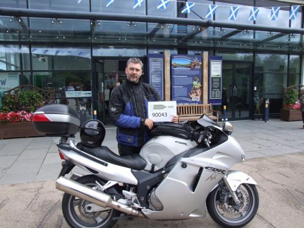 Rig's Honda Blackbird outside the Loch Lomond visitor centre