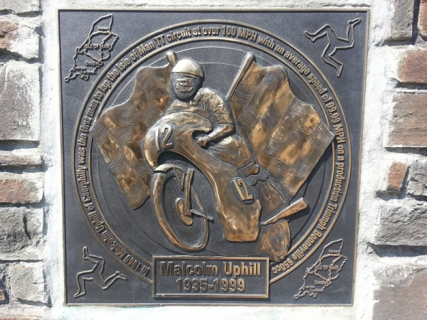 Malcolm Uphill Plaque, Caerphilly