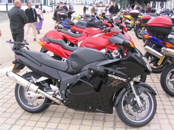 Bonzo's Honda CBR1100xx Blackbird in Aberystwyth