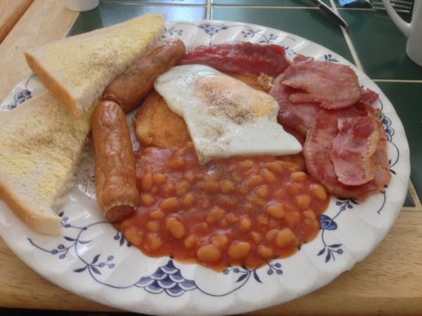Breakfast at Grindleford Station Cafe