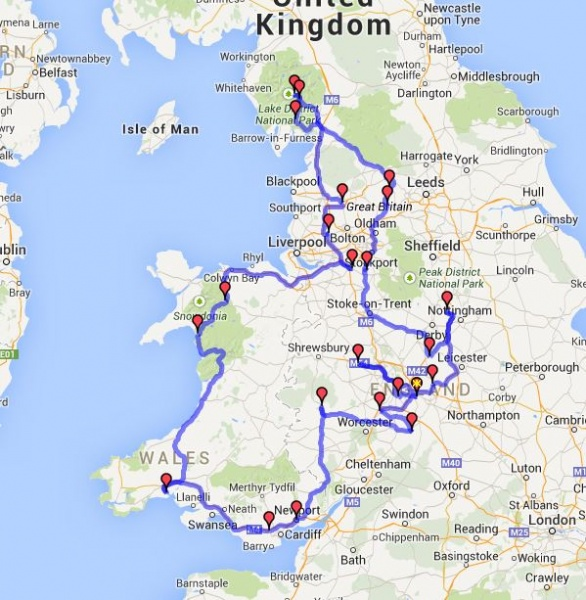 Virtual Rally 2 Route