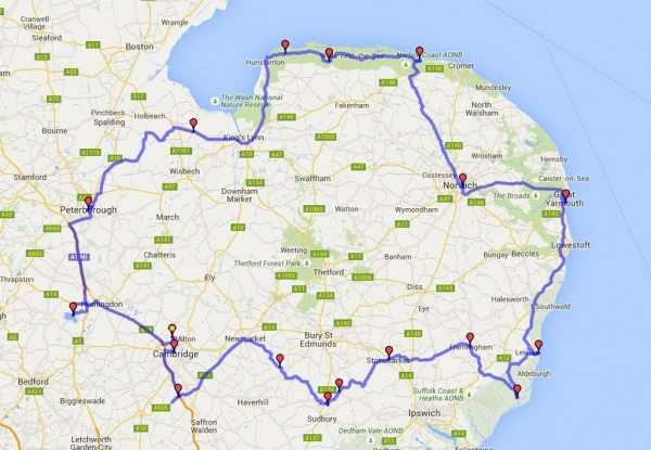 Iceni Rally Route