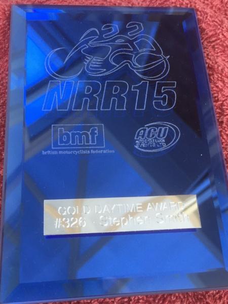 National Road Rally 2015 Award