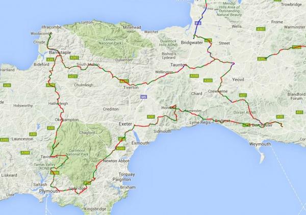 2016 SWPSR Route