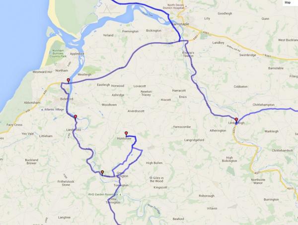 Huntshaw Approach - Area