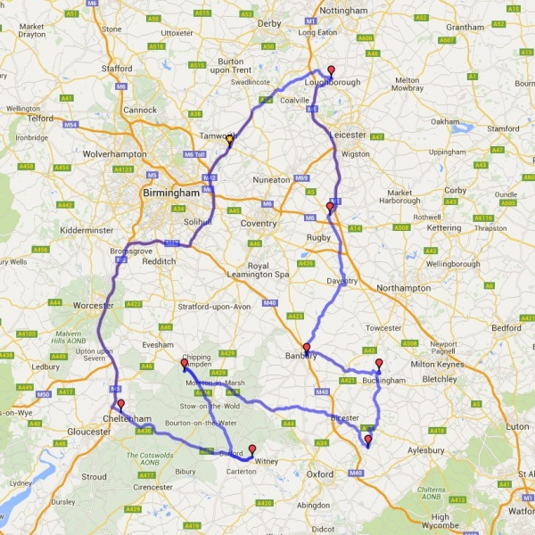 Ride the County 2016 Route