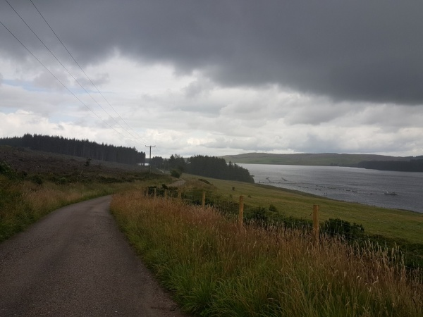 Road leading to Llyn Brenig Visitor Centre