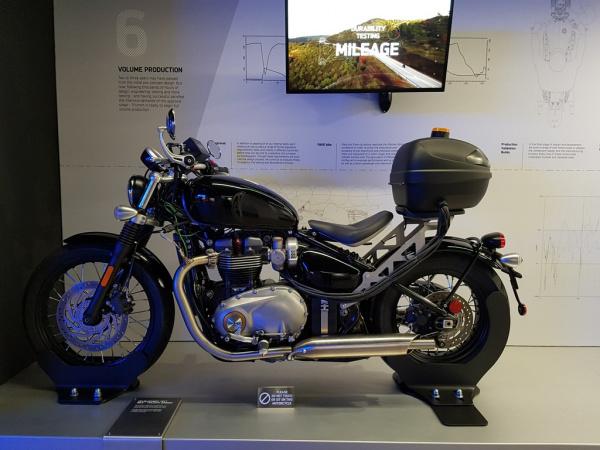Development test bike - Triumph Bobber