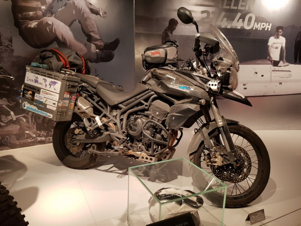 Round the world record breaking Tiger 800