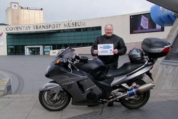 Bob outside Coventry Transport Museum